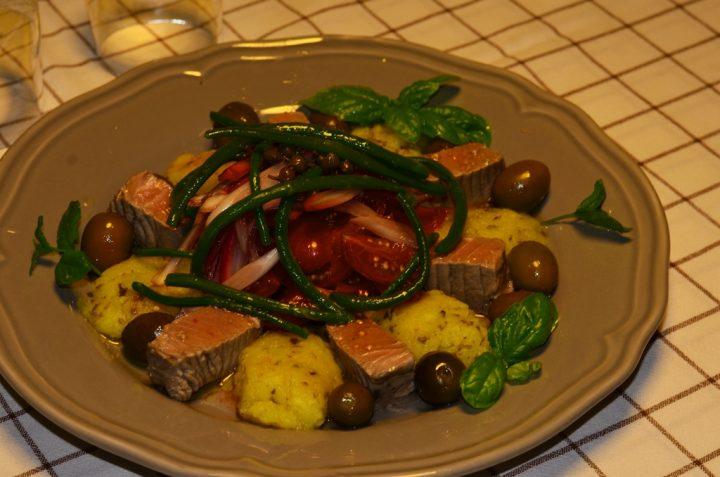 Tonno o Alalunga Marinato con Patate e Fagiolini