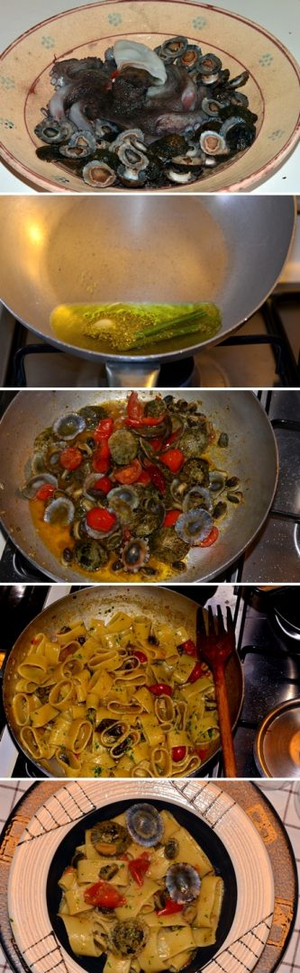 Pasta Calamarata con Cozze Patelle