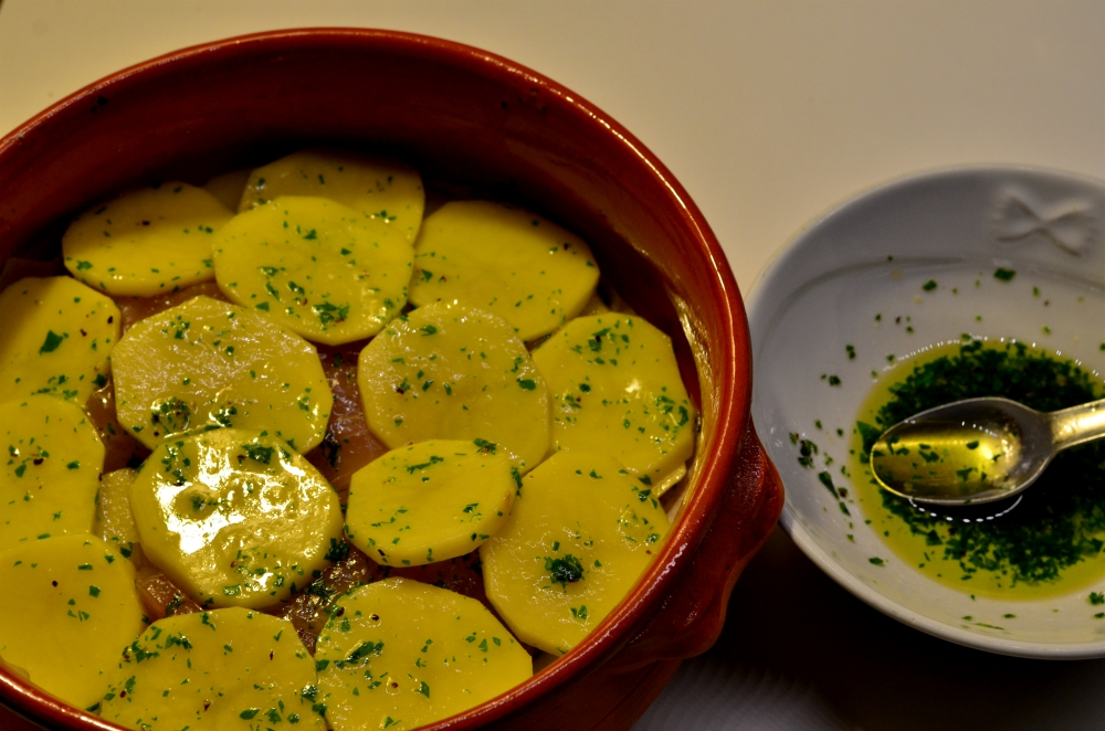 Filetti di Ricciola con Patate al forno