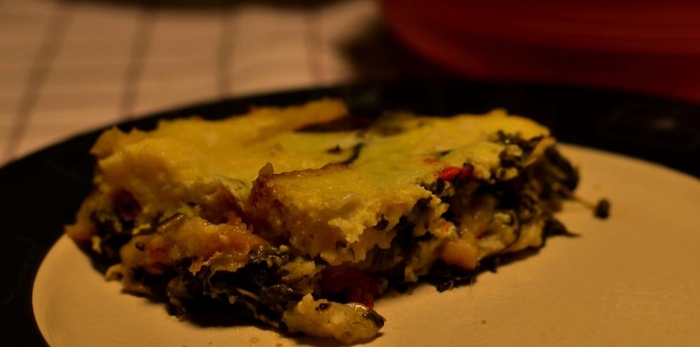 Pane Cotto con Verdure Selvatiche e Uova