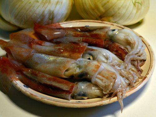 Pulizia di Totani e Calamari