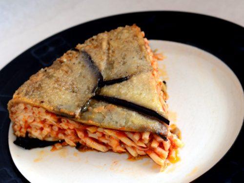 Pasta alla Pizzaiola al Forno nelle Melanzane