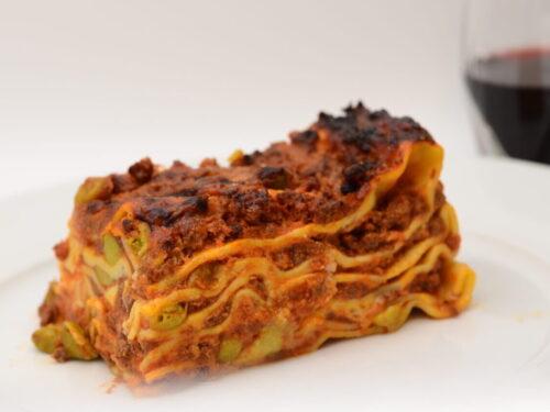 Lasagne alla Emiliana con Piselli