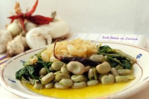 Fave Fresche con Cicorie e Cipolle bianche