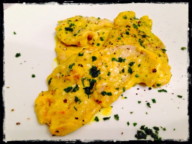 Scaloppine di vitello alla curcuma