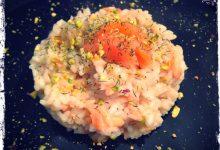 Risotto salmone e pistacchi