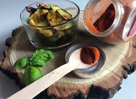 Chips di zucchine alla paprika
