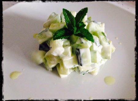 Insalata di cetrioli, yogurt e menta (Morocco mood)