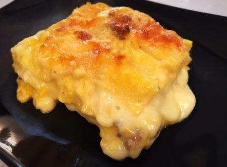 Lasagne zucca taleggio e salsiccia