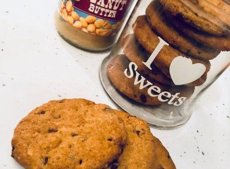 Cookies al burro di arachidi e cioccolato fondente