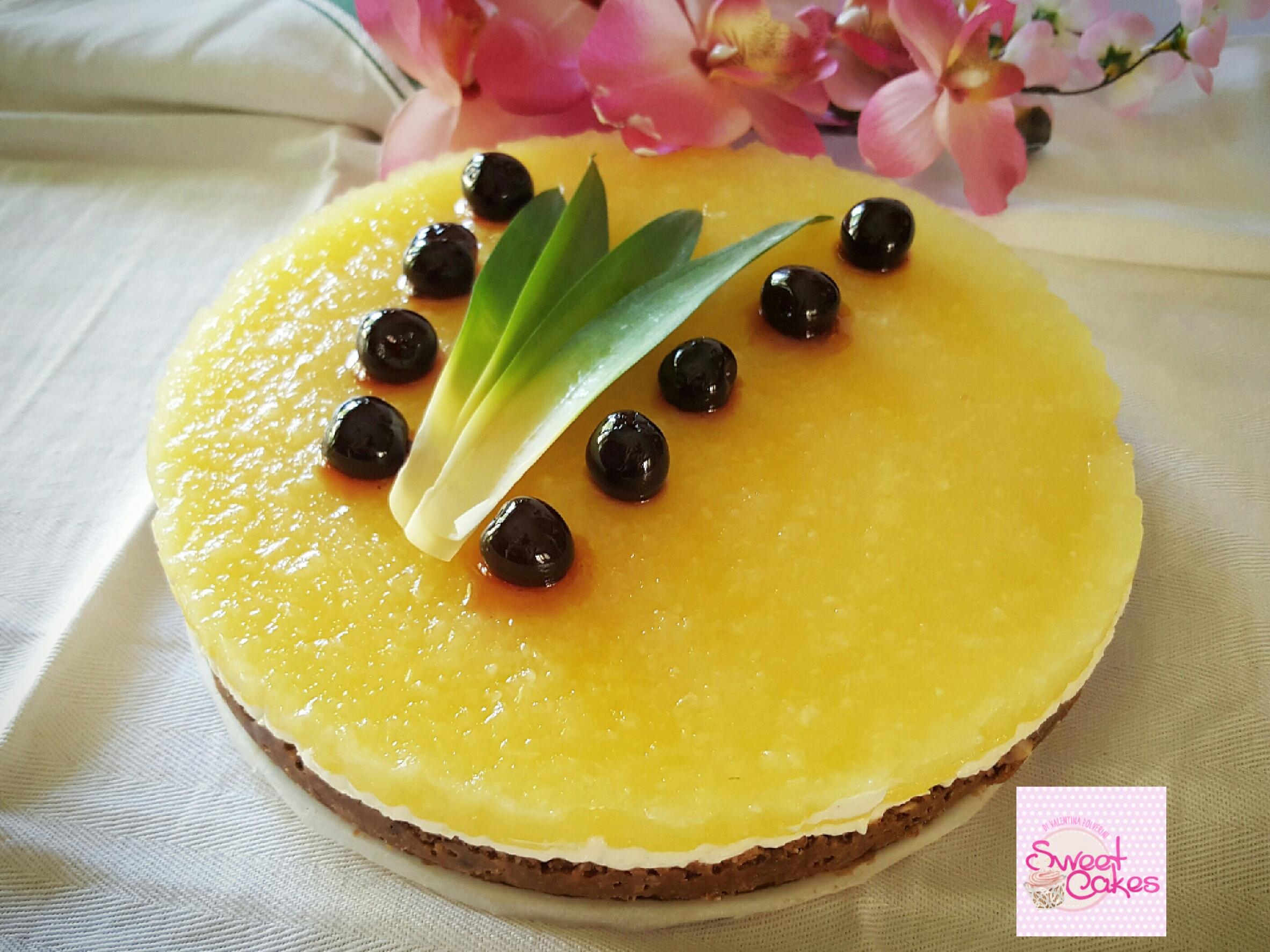 cheesecake fredda ananas e miele