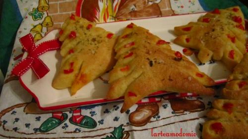 alberelli di pane natalizi