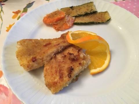 PERSICO E ARANCIA accompagnato da carote e zucchine sabbiate
