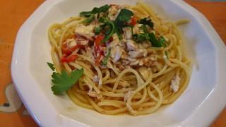 spaghetti al coccio gallinella di mare