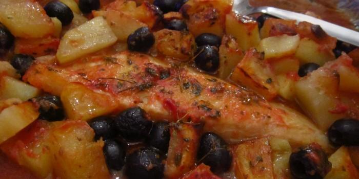 passera di mare con olive tagiasche