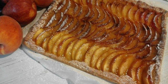 pesche e mele in crosta leggera