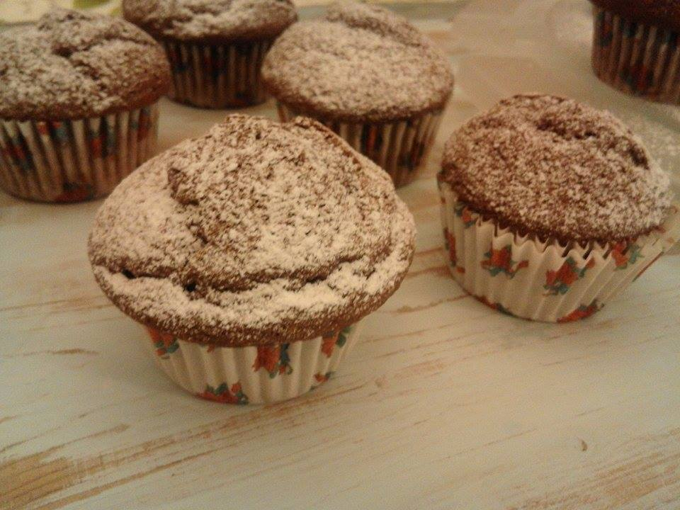 MUFFIN AL CACAO CON PHILADELPHIA...yes Sir!