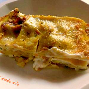 lasagne al pesto di zucca