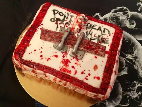 TORTA DONT OPEN DEAD INSIDE …da paura!!!!
