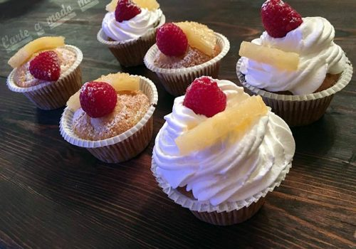 cupcakes all'ananas vegani