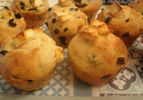 muffin salati olive greche e feta