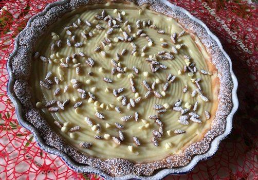 torta della nonna con crema al limoncello