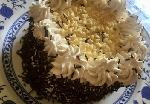 torta verticale caffè yogurt e panna