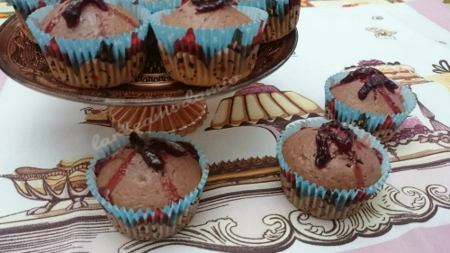 muffin con barbabietola
