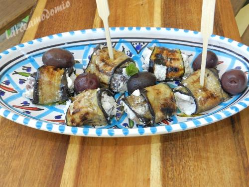 Melanzane grigliate farcite con ricotta e olive greche - Cucinare olive appena raccolte ...