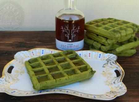 WAFFLE AL TE' MATCHA colazione o merenda il verde che rivitalizza