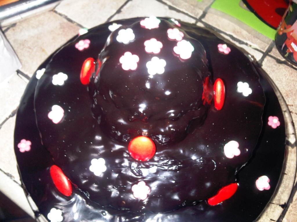 Torta di Compleanno con Glassa a Specchio e  Crema al Mascarpone