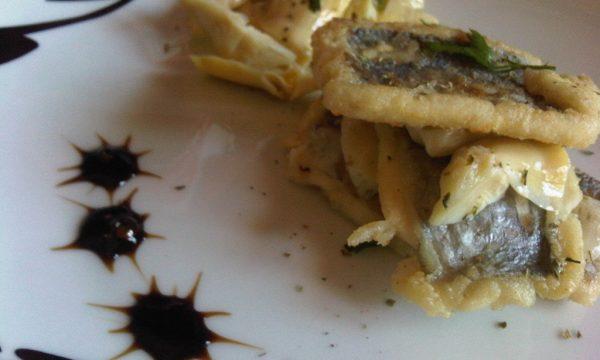 Pesce Spatola Fritto con Carciofi