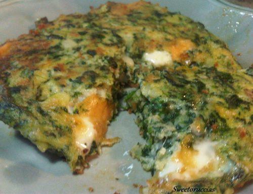 Torta di Patate e Spinaci Filante