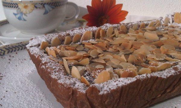 Mattonella di Pasta Frolla con  Ganache al Cioccolato Fondente