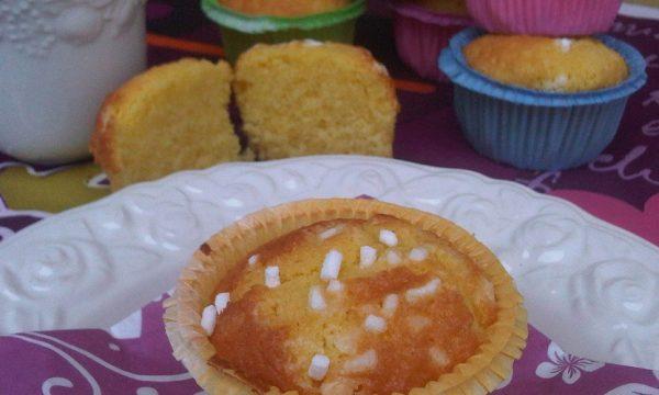 Muffin all'Arancia con Granella di Zucchero