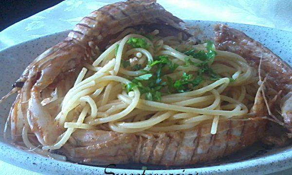 Spaghetti e Cicala di Mare (cannocchia di mare)
