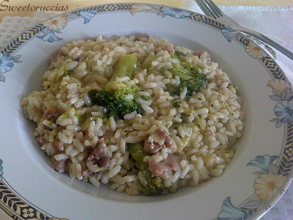Risotto con Salsiccia e Broccoli