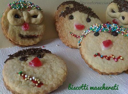 Biscotti di Pasta Frolla Mascherati