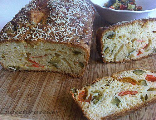 Plum cake ai peperoni e zucchine