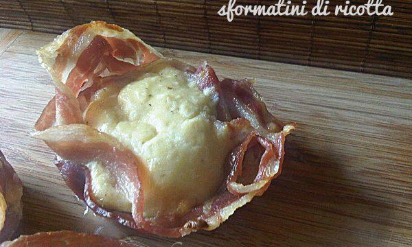 Sformatini di ricotta e pancetta al forno