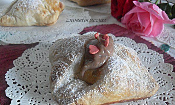 Bignè incastonato con crema variegata alla nutella