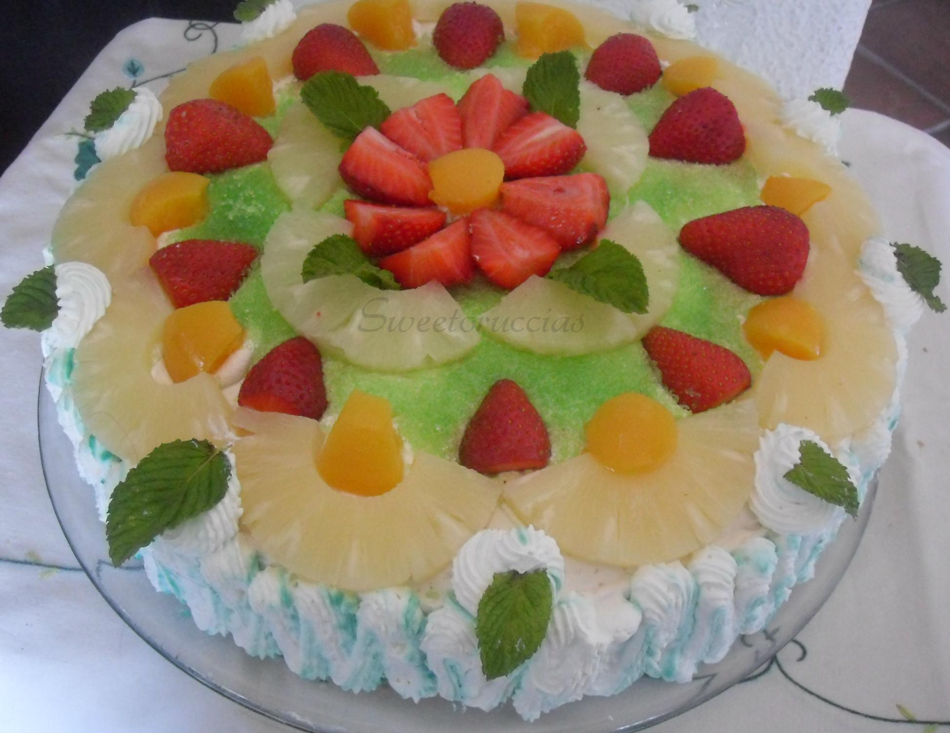 Torta di compleanno alla frutta for Cucinare per 40 persone