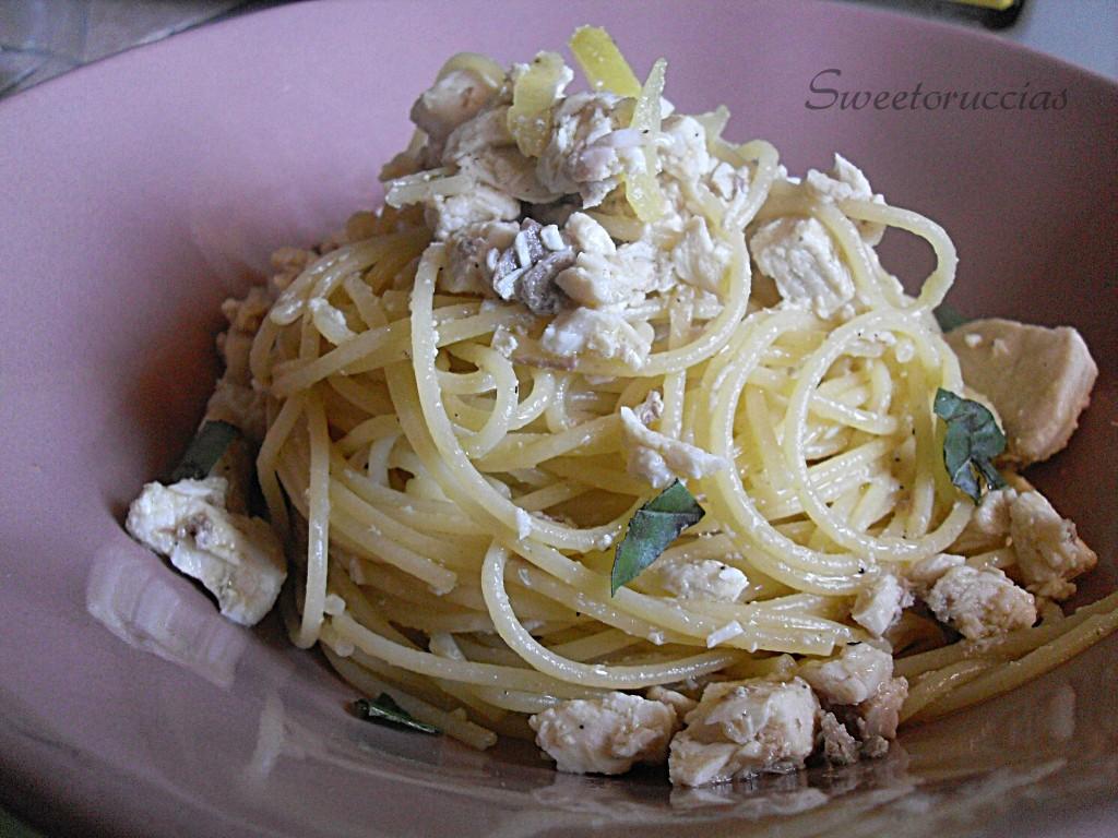 Spaghetti con pesce spada al limone