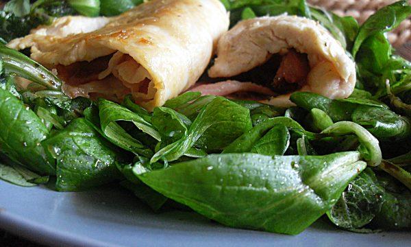 Tasche di pollo con asiago e pancetta