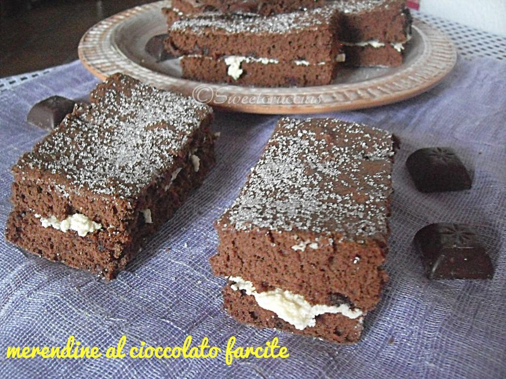 Merendine al cioccolato farcite