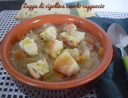 Zuppa di cipolle e cavolo cappuccio