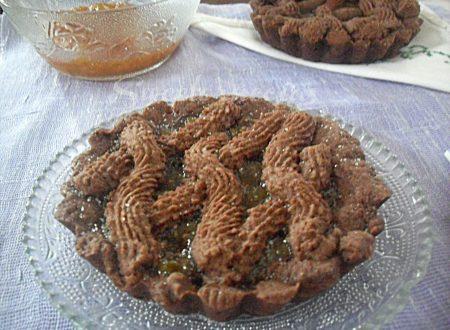 Crostatine al cacao con marmellata fichi