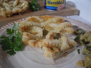 Crostatine salate tonno e zucchine