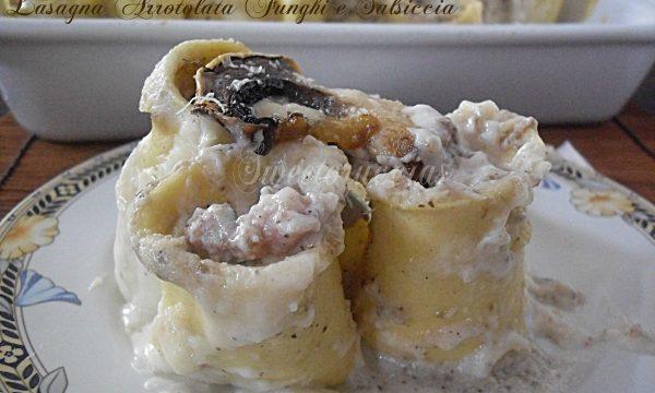 Lasagna arrotolata ai funghi champignon