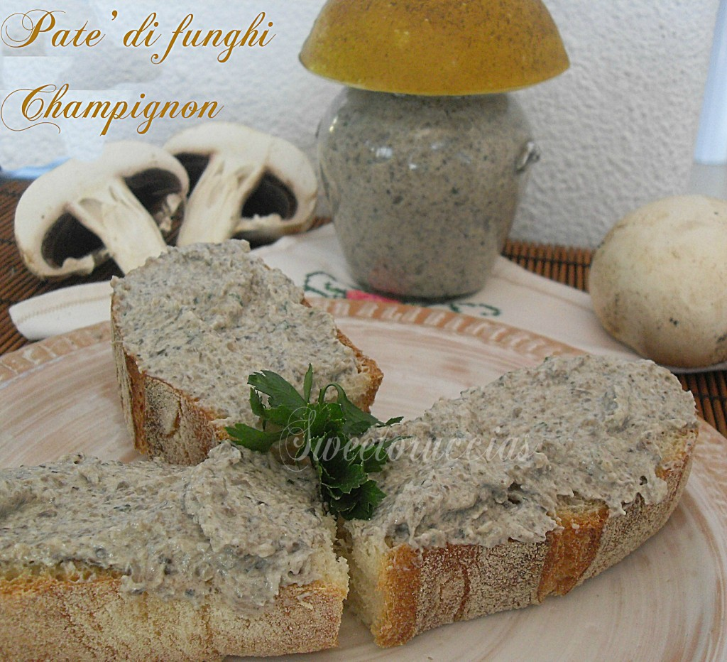 Patè di funghi champignon